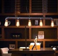 Edison Ретро Лофт Стиль Винтаж промышленные подвесные светильники металлические водопроводные трубы висит светильник Lamparas Colgantes