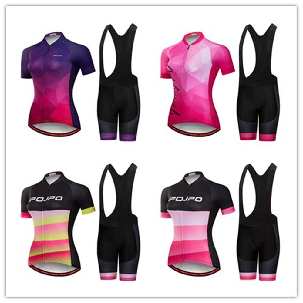 2018 MTB Bike Jersey bib shorts set Ropa Ciclismo maillot Women Cycling  jersey Suit Clothing bicycle 0f33a15e5
