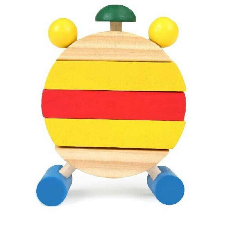 SUKIToy Kids Wooden Montessori Clock Block Number And Time Learning Toy Toys For Children With Autism Brinquedos Nice Gift