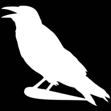 Fairy Kingdom Hero Crow Standing Branches Car Sticker for Wall Camper Van Motorcycle Car Styling Reflective Vinyl Decal 9 Colors
