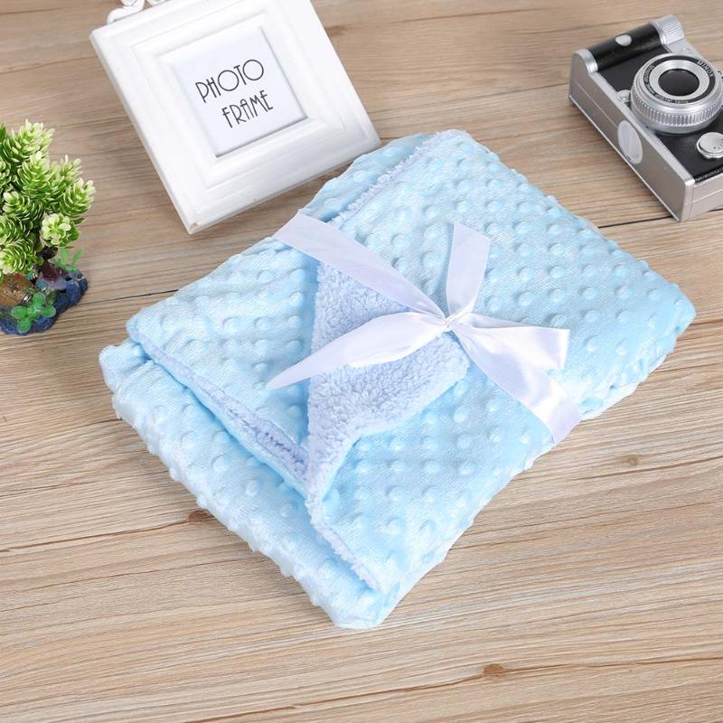 Soft Baby Blankets Warm Fleece Newborn Stroller Sleep Cover Cartoon Beanie Infant Bedding Quilt Swaddling Wrap Kids Bath Towel