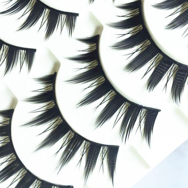5 Pairs Women Japanese Serious Makeup False Eyelashes Long Thick Natural Beauty Eye Lash Extension DIY Cosmetic Fake Eyelashes 2