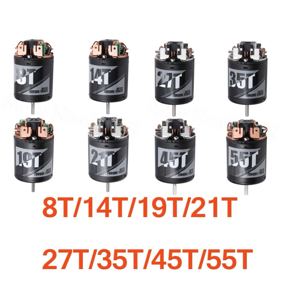 Torque Tuned Motor RS540 Brushed 8T 14T 19T 21T 27T 35T 45T 55T for 1/10 Off / On Road RC Car Truck Rock Crawler Buggy hot sale m1 5mm 18t 19t 20t 21t 22t shaft steel pinion motor gear combot set for 1 8 off road buggy truck rc car brushed brush