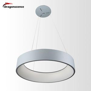 Image 1 - Okrągły aluminiowy nowoczesny wisiorek LED światło do salonu sypialnia jadalnia biuro lampa wisząca Lamparas De Techo Colgante Moderna