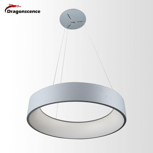 Okrągły aluminiowy nowoczesny wisiorek LED światło do salonu sypialnia jadalnia biuro lampa wisząca Lamparas De Techo Colgante Moderna