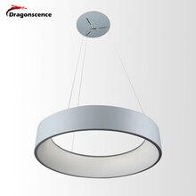 Rond en aluminium moderne pendentif LED lumière pour salon chambre à manger bureau suspension lampe lampara De Techo Colgante Moderna