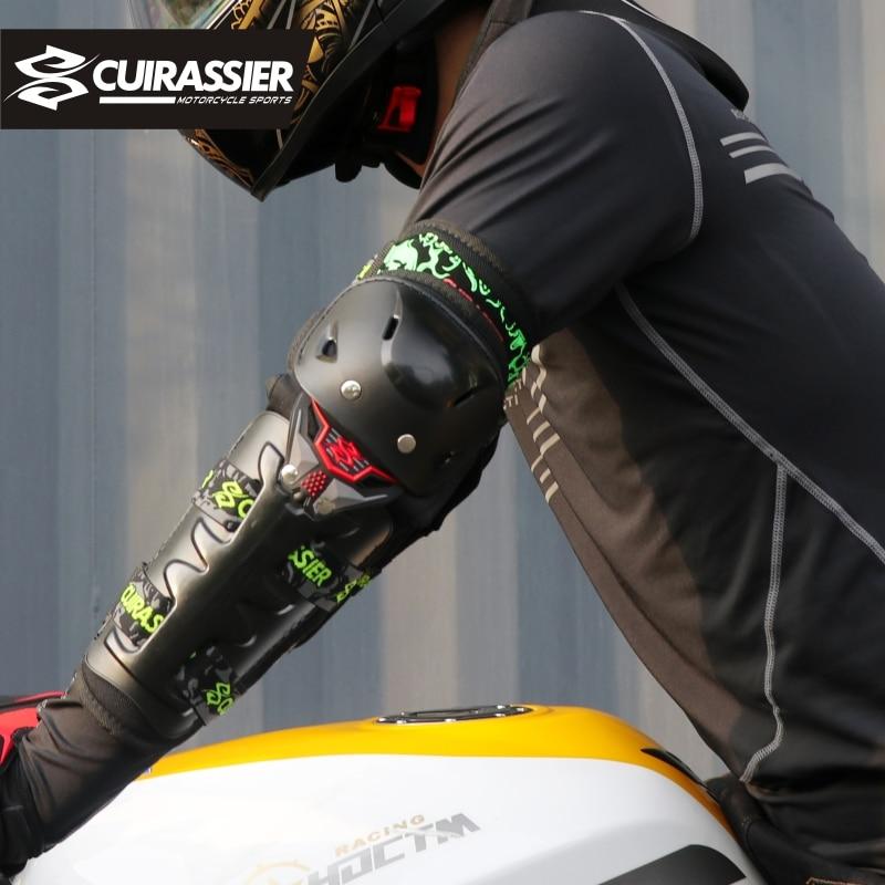 ציוד אופנוע מגן Kneepad גארדס מוטוקרוס מגן סף ברך מרוץ MX MTB רפידות מרפק הגנה Cuirassier