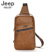 JEEP Brand Young Man Chest Bag Cow Split Leather Sling Bag Large Capacity Handbag Muzee Summer