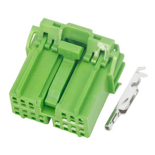 10 Sets 14 Pin clamp waterproof green car connector  with terminal DJ7141A-1.2-21 14P