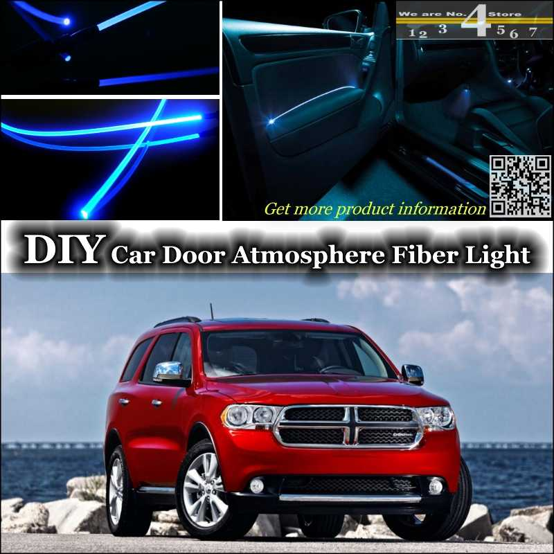 interior Ambient Light Tuning Atmosphere Fiber Optic Band Lights For Dodge Durango Inside Door Panel illumination (Not EL light)