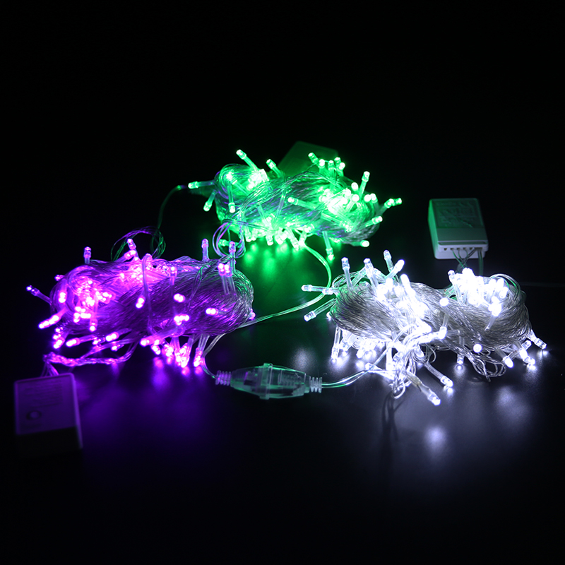 cheapest 10 20 LED Globe Bulb Light String Battery Power Wedding Fairy Garland String Christmas Party LED Lights Decoration