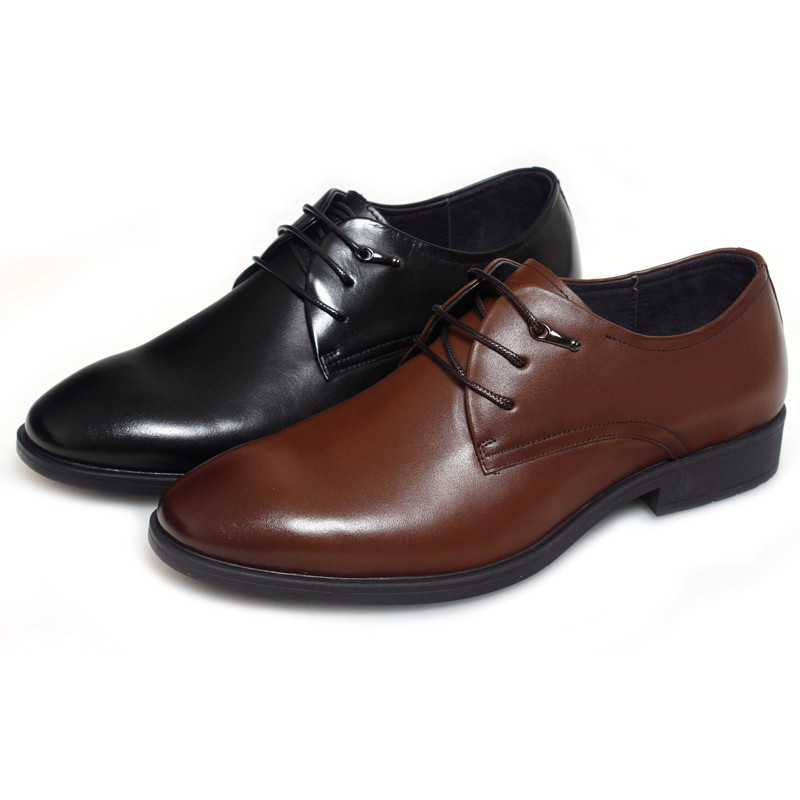 New fashion 2015 Men Shoes Leather Casual Lace up Brown Black Cheap Men Dress  Shoes Oxford Men leather shoes-in Women s Flats from Shoes on  Aliexpress.com ... e81e52bd8