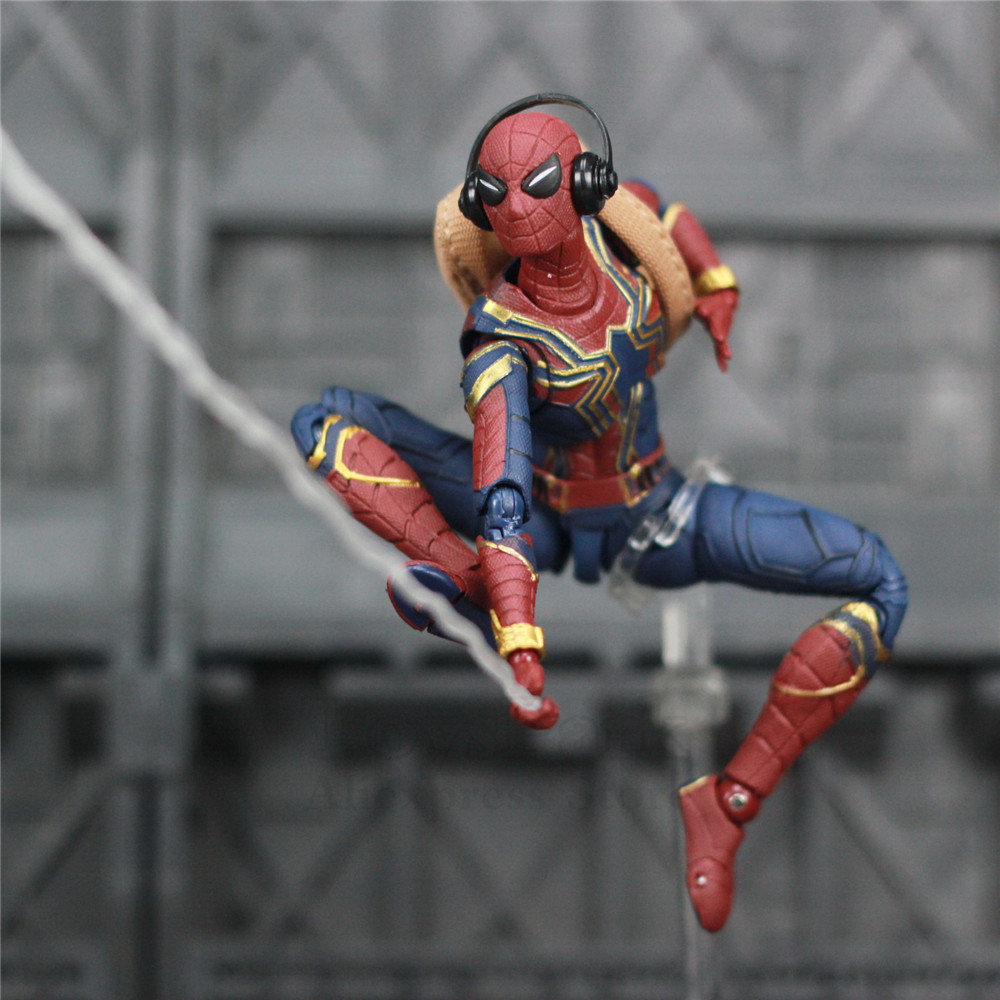 """Image 2 - Marvel Avengers Iron Spider Man 6"""" Movie Action Figure Tom Holland Legends Spiderman Far From Home Endgame Toys Doll KO's SHF-in Action & Toy Figures from Toys & Hobbies"""