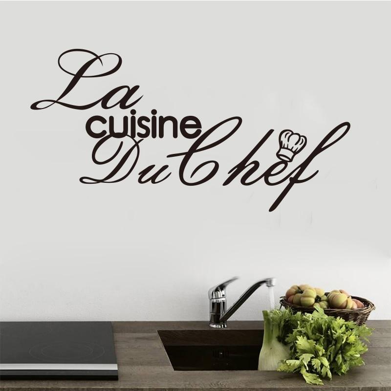Aufkleber Französisch Küche Chef Vinyl Wandtattoos Aufkleber - Wohnkultur - Foto 2