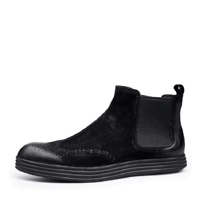 Tornozelo Homem Inverno Preto Dos Top Sapatas Sapatos Botas De Mycolen Sapato Homens Nova Couro Moda Calçados xHw8tq40O