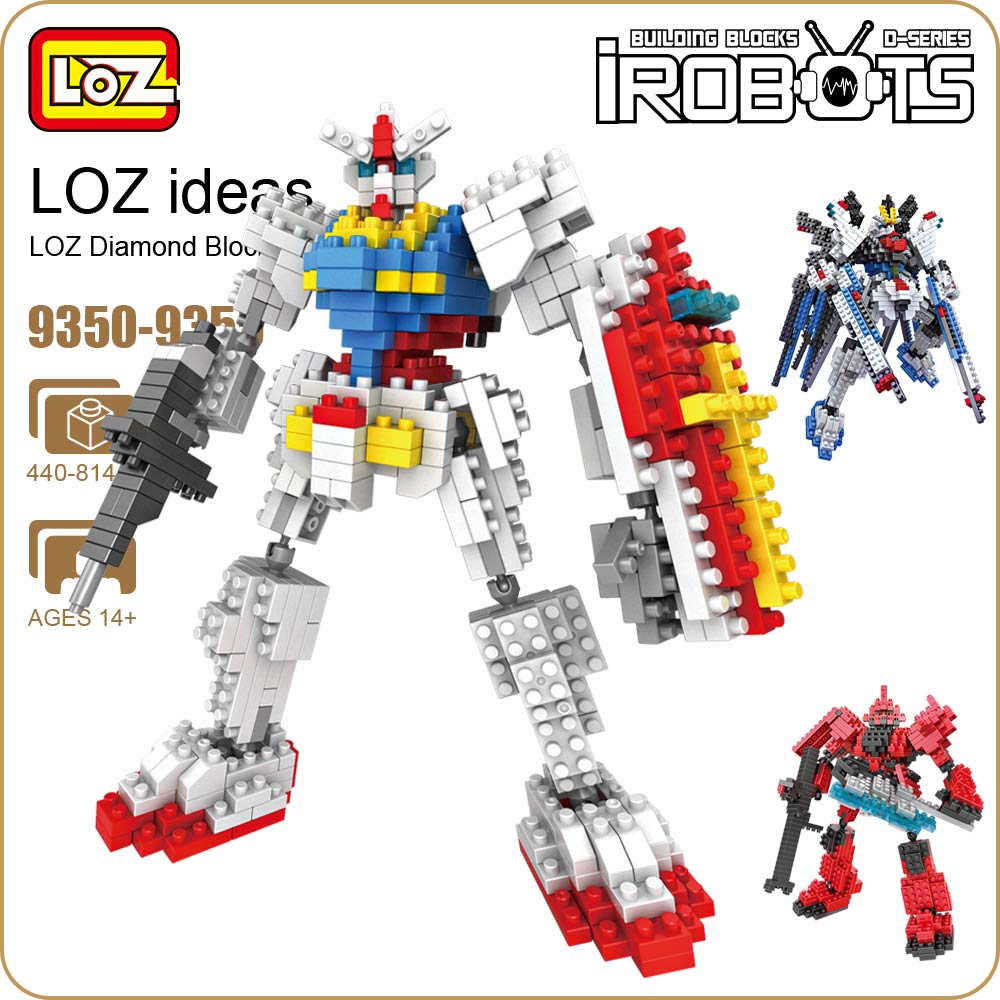 LOZ Building Blocks Diamond Blocks Bricks Robot Toy Plastic Assembly Toys Educational Japanese Anime Action Figures 9350-9355
