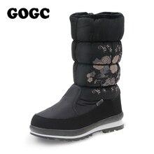 GOGC 2017 New Arrival Women's Winter Boots Shoes Comfortable Flower Floral Women's Boots Winter Boots for Women Female Footwear