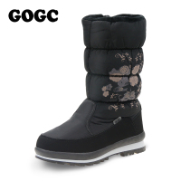 GOGC 2017 New Arrival Women S Winter Boots Shoes Comfortable Flower Floral Women S Boots Winter