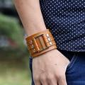 Punk Style Retro Leather Wrap Bracelets For Men DIY Friendship Bracelet Braclets Mens Bracelete Masculino Erkek Bileklik