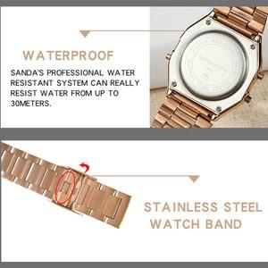 Image 5 - SANDA Mens LED Digital Watches Top Brand Luxury Fashion Waterproof Clock Wrist Watch Sports Relogio Masculino Gift for Male
