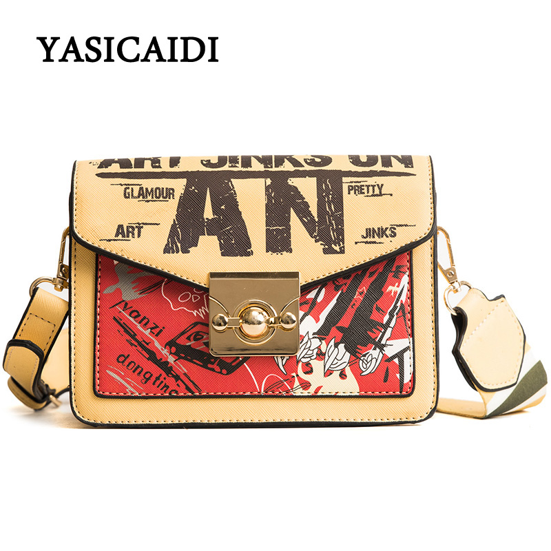 Summer Women Shoulder Messenger Bag Small Flap Luxury Handbags Women Designer 2018 Wide Strap Women Crossbody Bag Purse