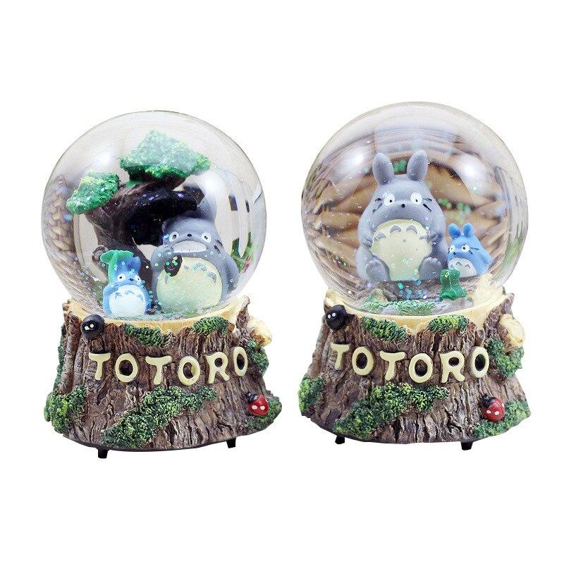 Creative Chinchilla Music Box Floating Snow Crystal Ball Home Decor Figurines Fashion Birthday Gift Cute Girls Heart Decorations