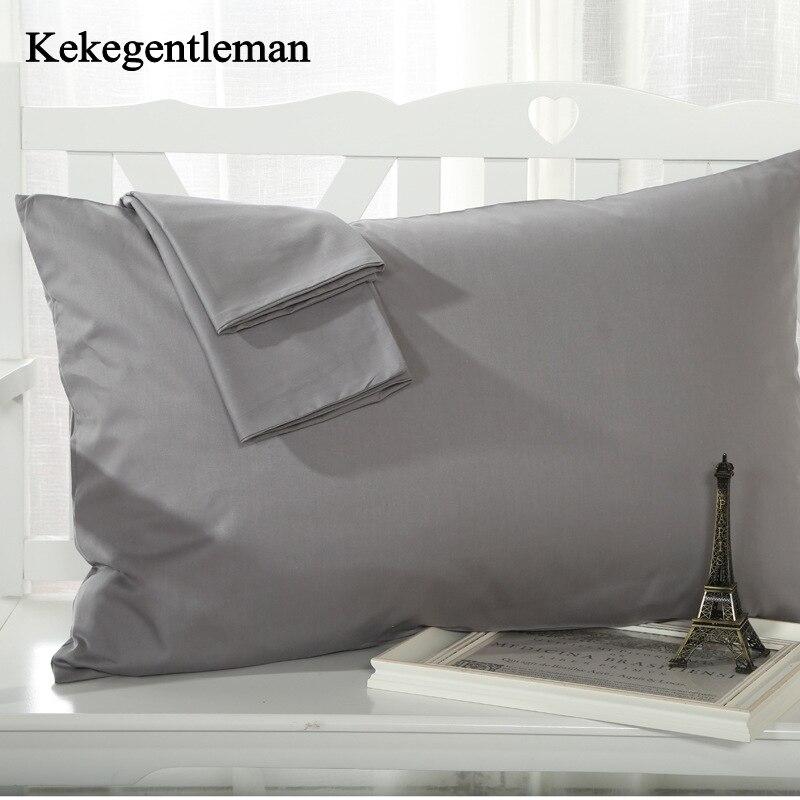 2ชิ้นผ้าฝ้าย100%สีทึบปลอกหมอน15สีทึบปลอกหมอนผ้าคลุมเตียง48x74เซนติเมตรซองหมอนปก