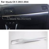 car cover detector ABS chrome Middle co pilot Glove box front trim trim panel part 1pcs For Mazda CX 5 CX5 2013 2014 2015 2016