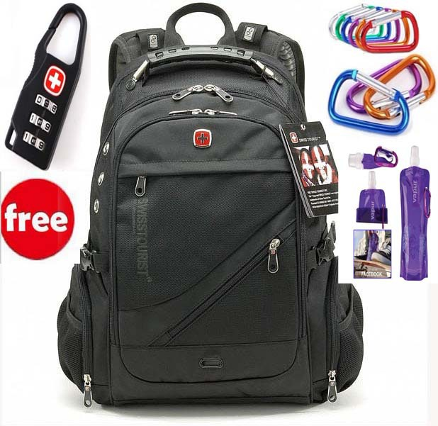 Swiss Gear Backpack Laptop Bag Computer Travel School Luggage Grey ...