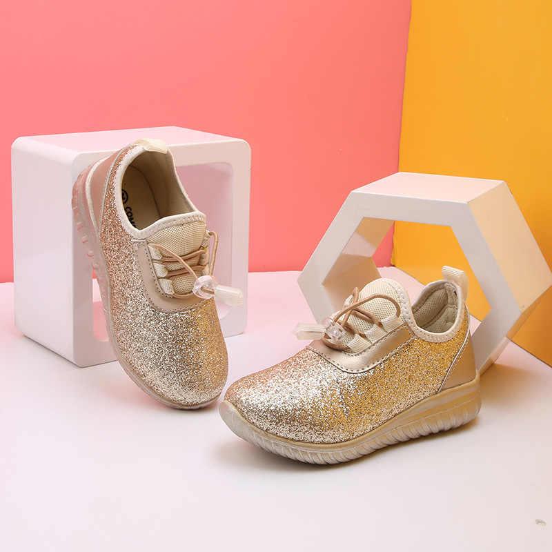 เด็ก Glett รองเท้าเด็กรองเท้าผ้าใบ EVA เด็กกีฬาเด็กสบายๆแบน silver silver รองเท้ารองเท้าสำหรับงานปาร์ตี้และงานแต่งงาน
