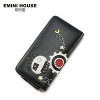 EMINI HOUSE Robot Series Womens Wallets And Purses Women Leather Handbags Long Wallet Lady Purse High