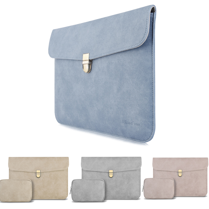 Leather Sleeve Bag For Microsoft Surface Go Pro 6 5 4 3 12.3 Waterproof Laptop Pouch Case For Ipad Pro 10.5 11 12.9 2018 Cover