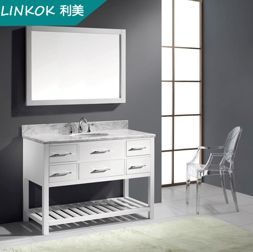 Linkok Furniture Selling well style commercial white modern bathroom vanity  Online Buy Wholesale modern bath. Bamboo Bathroom Cabinet Manufacturers China   makitaserviciopanama com