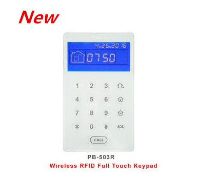 Focus 433Mhz 868Mhz Touch Screen Wireless RFID Keypad Disarm Alarm Host By RFID Tags Keypad Built In Lithium Battery