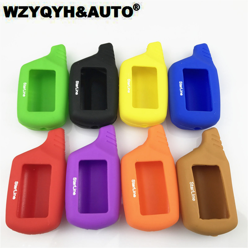 B9 B6 A91 A61 Silicone cover Case For Starline B9 B6 A91 A61 LCD Remote Only Two Way Car Alarm Starline B9 B6 A91 A61 Case starline a61 b6 dialog