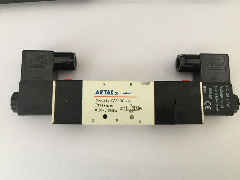 4V330C-10 5Way 3Position Dual Solenoid Pneumatic Air Valve 3/8 BSPT Brand New DC12V,DC24V or AC110V AC220V 1pcs 4v310 10 dc24v 5way 2 position single solenoid pneumatic air valve 3 8 bspt brand new