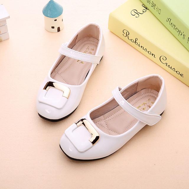 Niños Niñas Zapatos de Cuero de Primavera/Otoño Moda Solo Zapatos de La Princesa Para Los Niños Del Partido Zapatos Estudiante de Moda de Alta Calidad