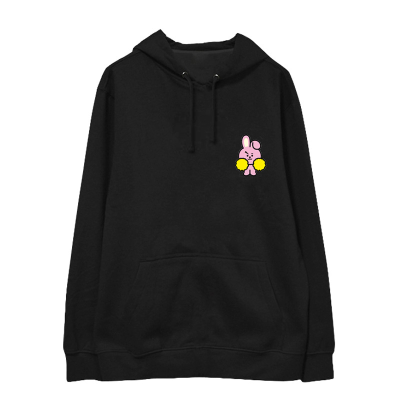 Kpop BTS same paragraph loose printing hoodies Korea men women autumn winter keep warm hooded sweatshirts Casual Harajuku tops