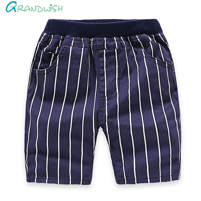 Grandwish Toddler Boy s Summer Stars Denim Pants Children Striped Washing Shorts Patchwork Casual Shorts for