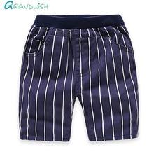 Grandwish Toddler Boy s Summer Stars Denim Pants Children Striped Washing Shorts Patchwork Casual Shorts for