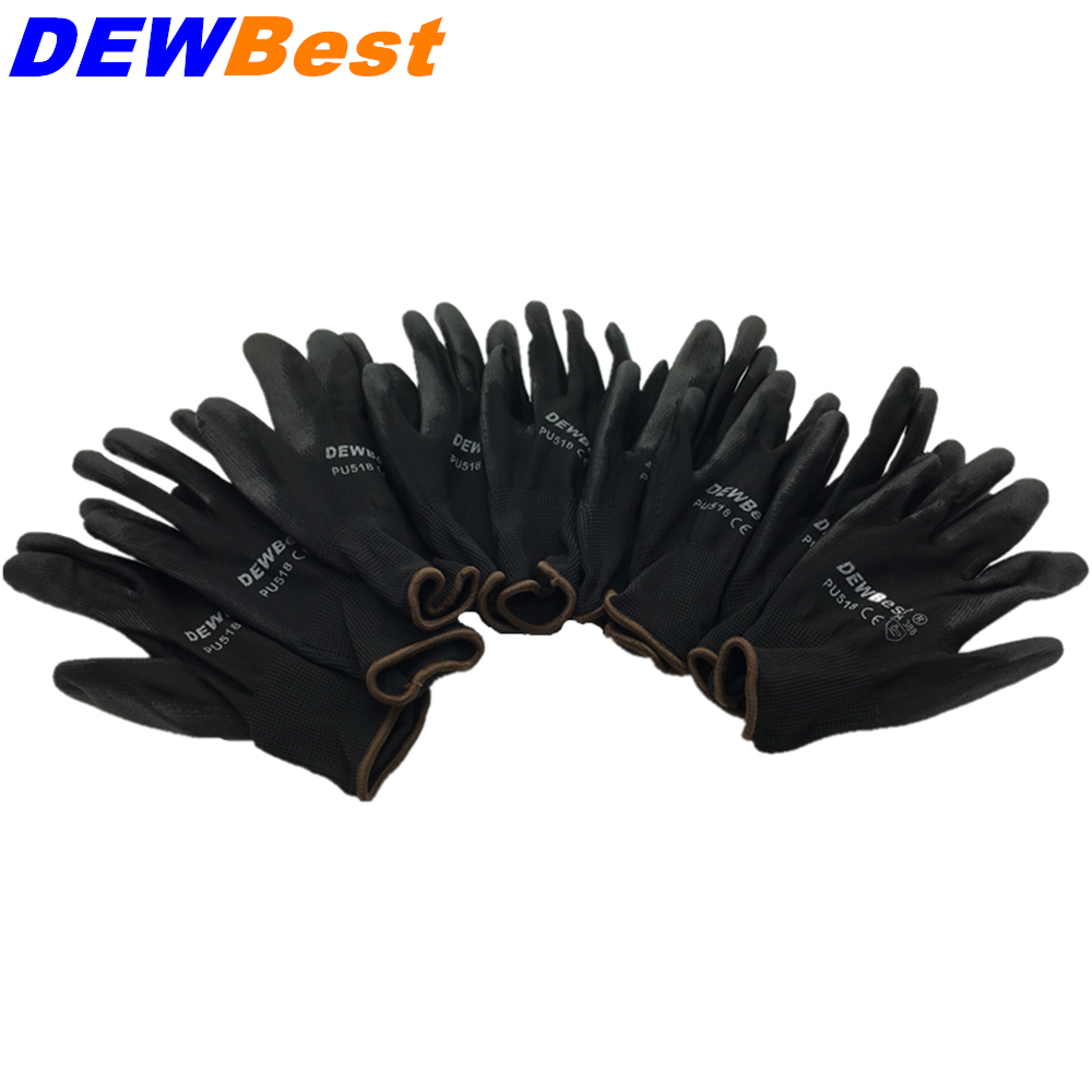 Leather work gloves china - Free Shipping12 Pair Pu Work Gloves Safety Grip Leather Working Gloves Light Weight Grey Spandex Protection