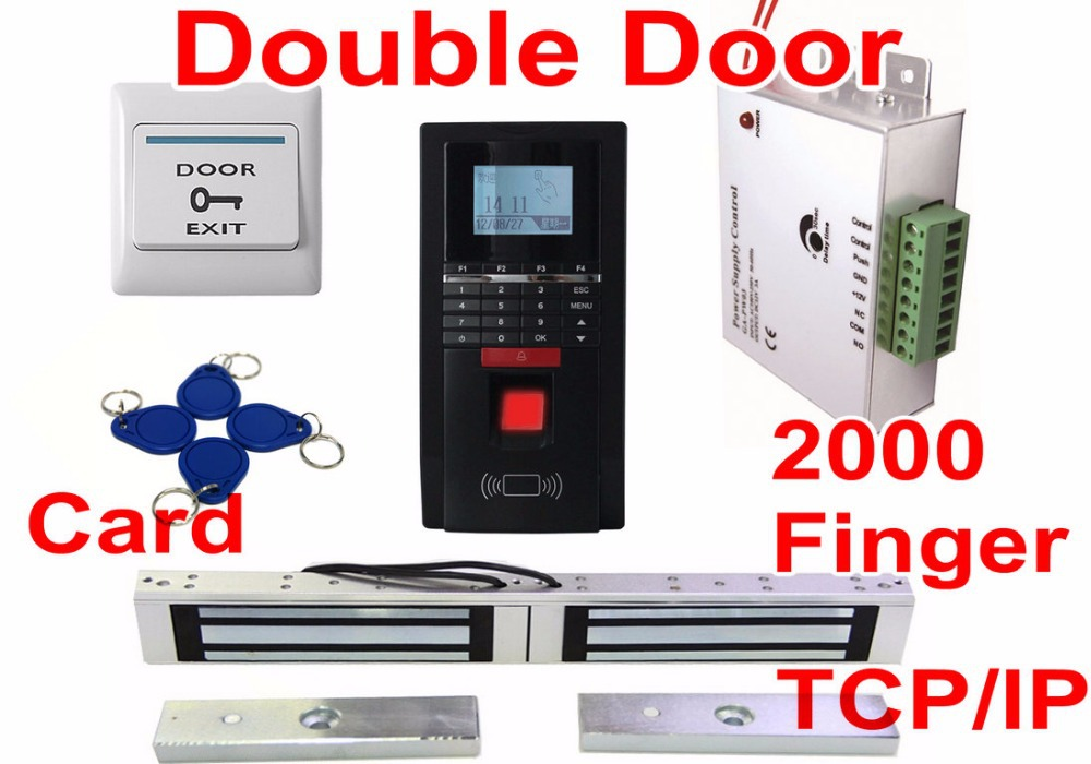 Superior Double Door Magnetic Lock Cheapest Price TCP/IP Water Proof Fingerprint  Access Control Electronic Door Lock Fingerprint Software In Fingerprint  Recognition ...