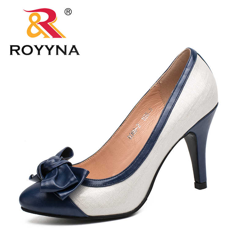 ROYYNA New Fashion Style Women Pumps Pointed Toe Women Shoes Shallow Lady  Wedding Shoes comfortable Light 0f23059895c3