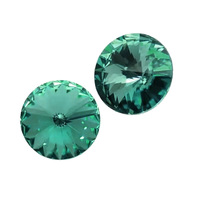 #1122 6 8 10 12 14 16 18mm Cristal Azul zircão Chatons Strass Ponto de volta Strass Pedra De Cristal Rivoli Cristal Para Nail Art