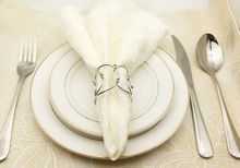 Exquisite Iron Decorative Napkin Buckles 10 pcs/Set