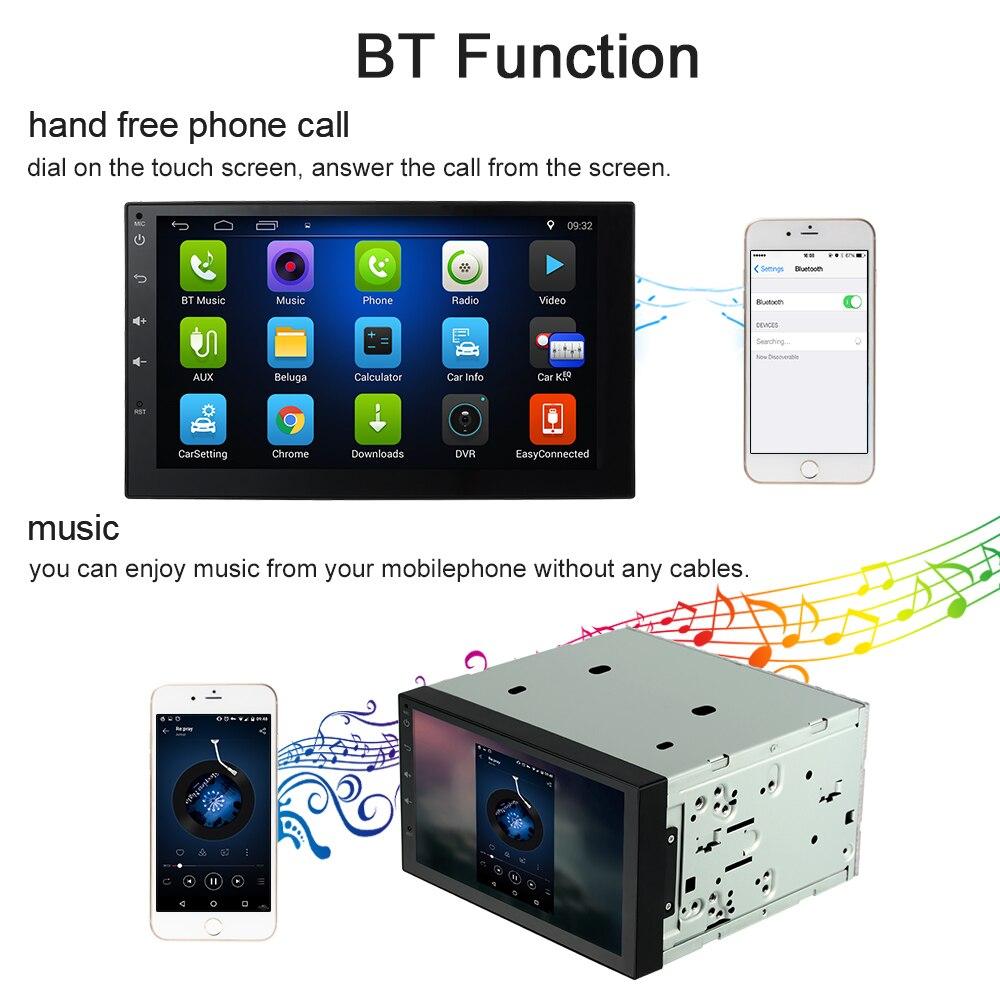 KKmoon 2 Din HD Сенсорный экран стерео радио плеер gps навигации мультимедийных развлечений Системы WiFi BT AM/FM Android 5,1
