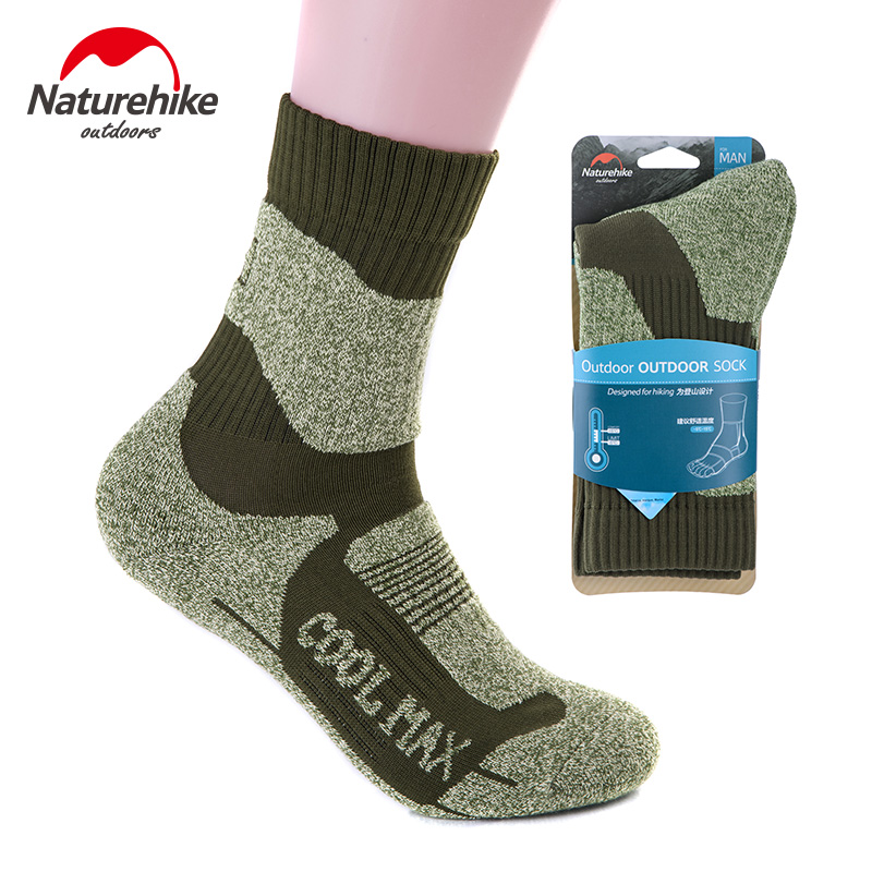 Naturehike Winter Thick Sport Socks Men Coolmax Warm Quick Drying Socks For Outdoor Hiking Camping Cycling Skiing