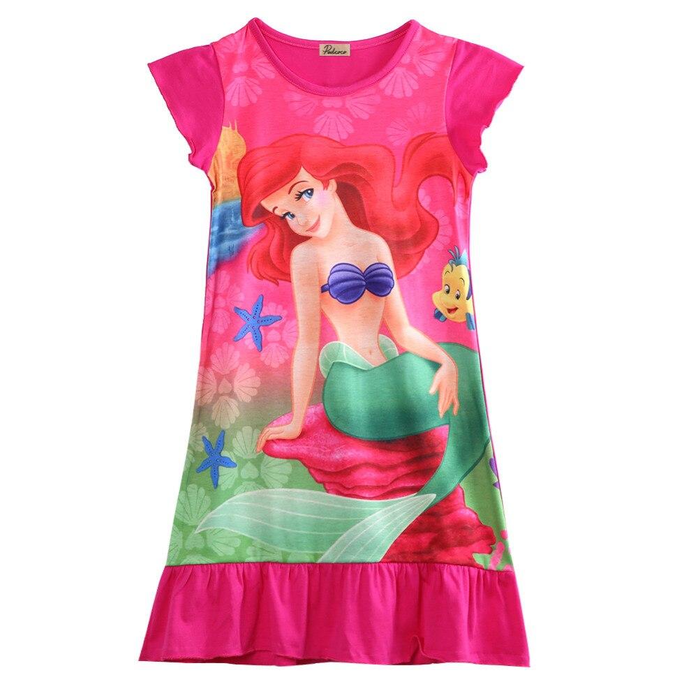 Kinder Mädchen Kleid Kleine Meerjungfrau Ariel Prinzessin Kleid Pyjama Rock Nachtwäsche