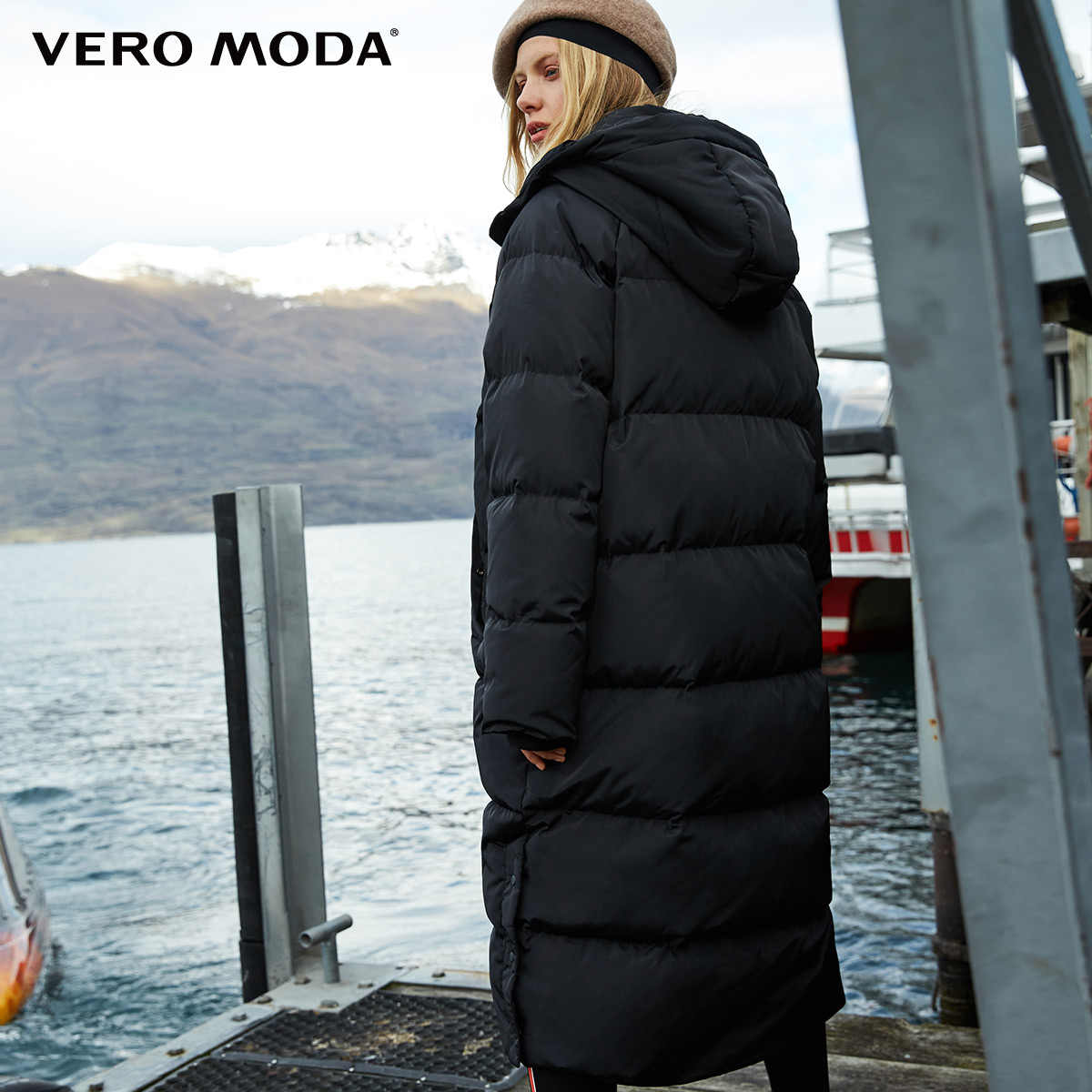 Vero Moda 2019 новый пуховик пуховик женский женский парка женская зимняя куртка для женщин длинный пуховик с капюшоном | 318412527