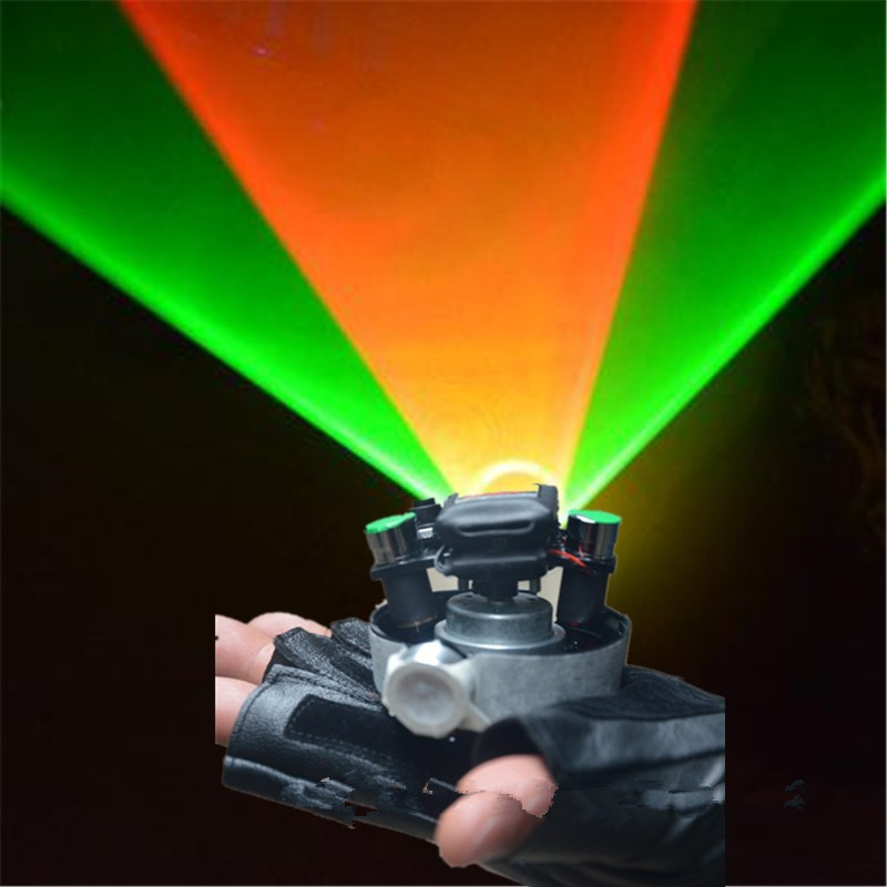 New Green Red Swirl Laser Gloves Rotable Party Gloves Laser Lights Professional DJ Equipment